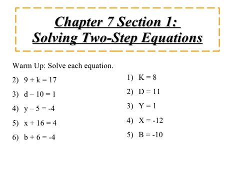 Solving Two Step Equations Worksheet With Answers by Solving Two Step Equations