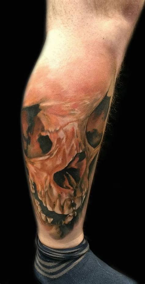tattoo muscle looking detailed leg of