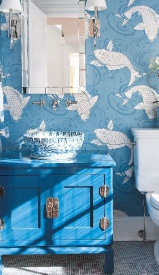 fish wallpaper for bathroom bathrooms archives panda s house 29 interior decorating ideas
