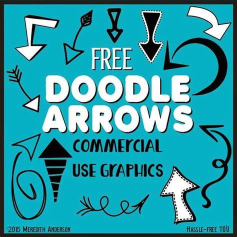 doodle font free commercial use 1000 followers freebies clip and arrows