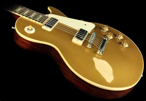 Miniatur Gitar Gibson Les Paul Gold Slash gibson les paul 1957 goldtop reissue 2010 factory mini