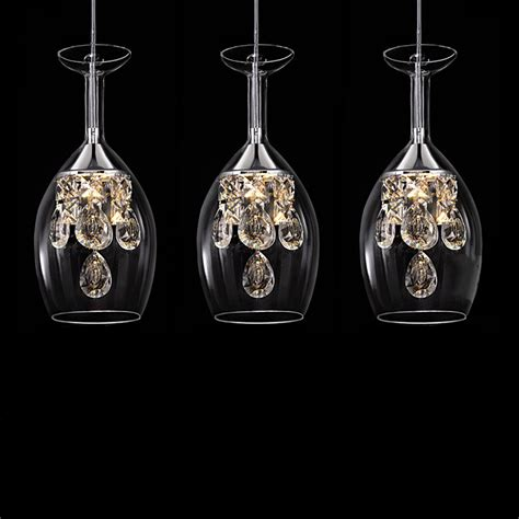 Pendants And Chandeliers Island Modern Crystal Led Mini Pendant Three Light Ceiling