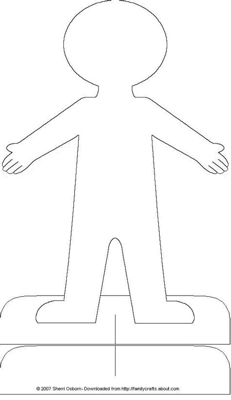 large paper doll template resources