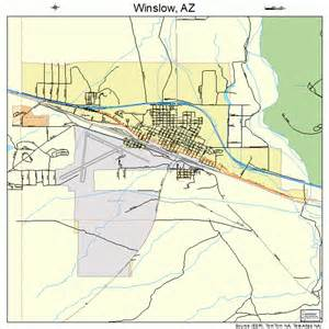 map of winslow arizona winslow arizona map 0483930