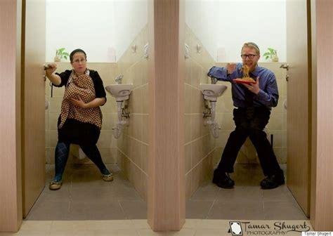 men in the bathroom side by side photo shows hypocrisy of suggesting women