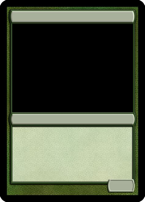 Magic The Gathering Card Template Texture by Mtg Monogreen Creature Template Mtg Templates