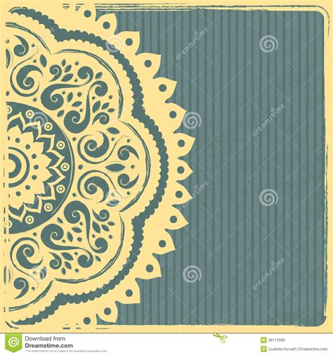 Ornament Template Beautiful Vintage Indian Ornament Template Stock Vector Image 28113399