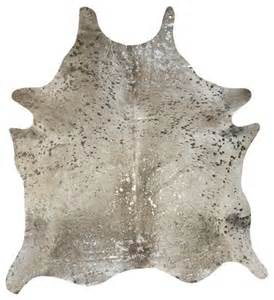 cowhide metallic silver and grey rugs ottawa by