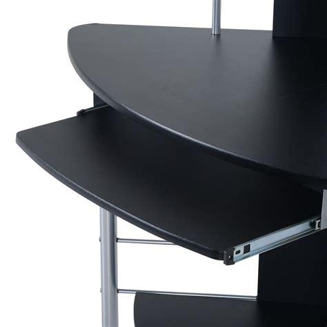 Corner Desks Black Homcom 45 Quot Arch Tower Corner Computer Desk Black Desks Home Office Home Goods