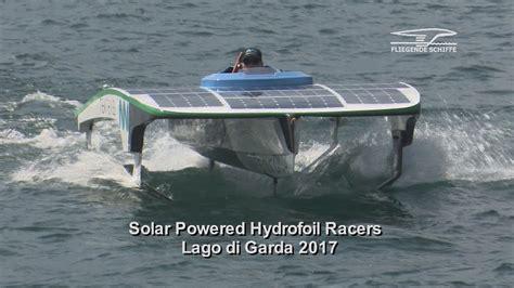 hydrofoil boat youtube solar hydrofoil racers youtube