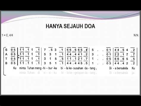 tutorial keyboard lagu rohani hanya sejauh doa satb teks kor lagu rohani not angka