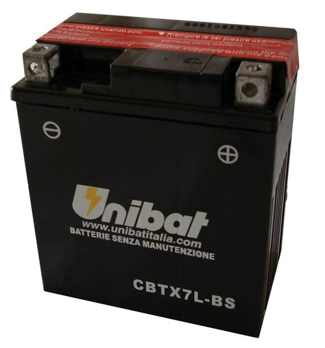 Motorrad Batterie Unibat by Cbtx7l Bs 12v 7a необслужваем Agm Unibat Moto