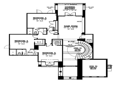spanish villa floor plans blueprints for houses with open floor plans floor plan 2nd