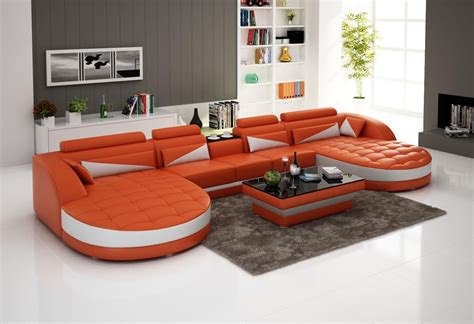 sectional coffee tables orange white double chaise sectional with curved tufted