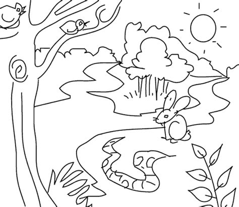 jungle scene coloring pages coloring pages