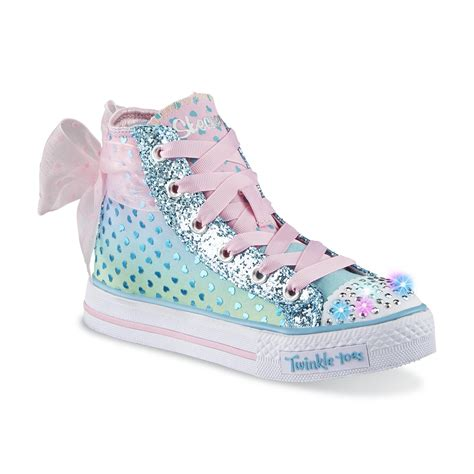 twinkle toes light up shoes skechers s twinkle toes shuffles pixie bunch blue