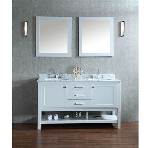 Vanity With Two Sinks by Ariel By Seacliff Bayhill 60 Quot Sink Bathroom Vanity