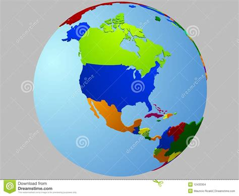 america map on globe america globe map stock images image 12433304