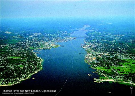 new london thames river thames river in new london connecticut aerial view