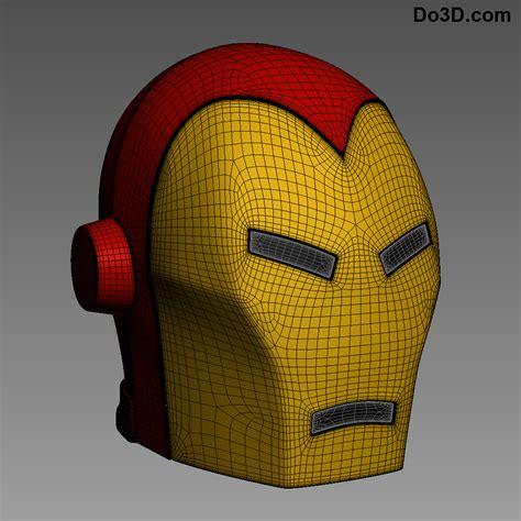 printable iron man helmet 3d printable the invincible iron man helmet model