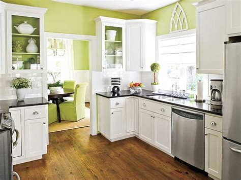 Green And White Kitchen Cabinets And The Green Bold Beautiful Kitchen Color Inspiration