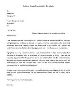 cover letter template for customer service 35 awesome cover letter exles the web