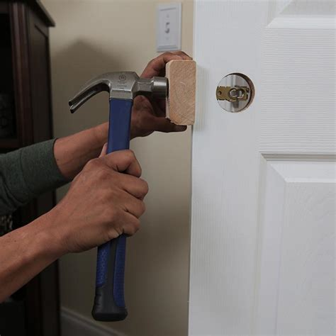 How To Install A Lock On A Door by Install A Lockset