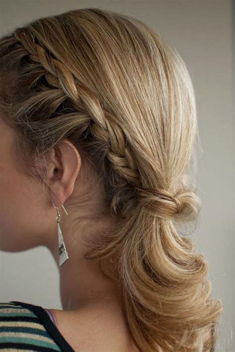 easy ponytail styles for hair you will beautiful and easy braided hairstyles for different types