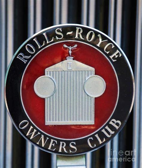 rolls royce owners club badge photograph by dagan