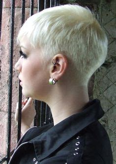 hair style for minimun hair on scalp back view of a very short haircut for girls and women
