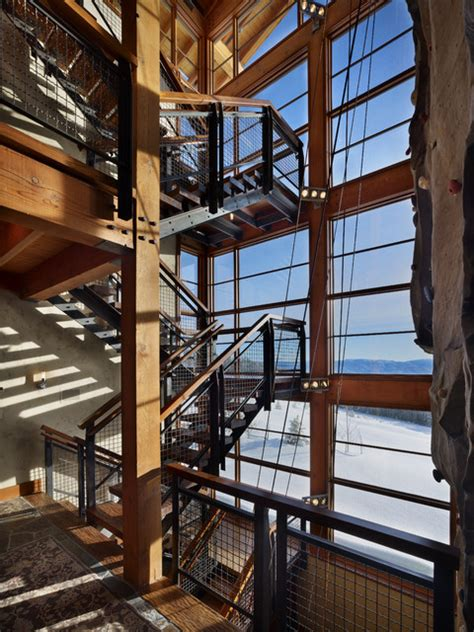 stair tower  climbing wall industrial staircase
