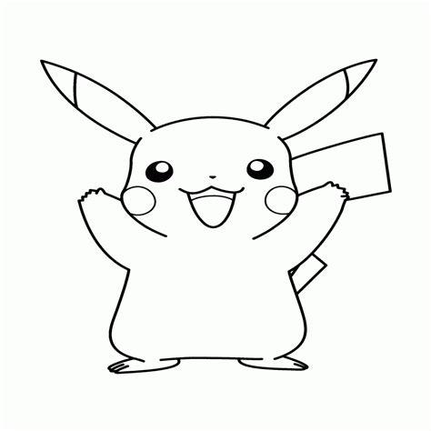 imagenes para colorear videojuegos dibujos para colorear de pokemon pikachu