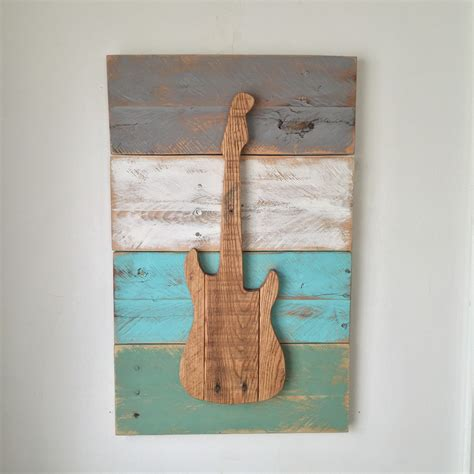 guitar rustic home decor wall hanging