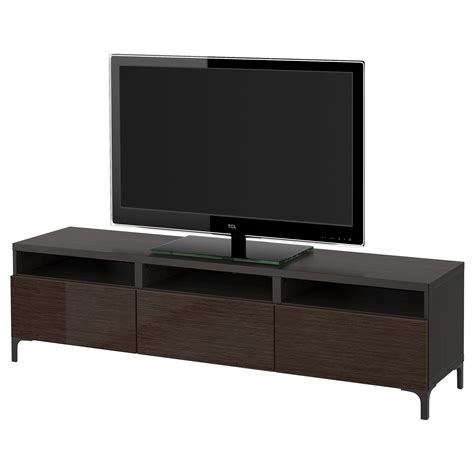 best tv bench best 197 tv bench with drawers black brown selsviken high