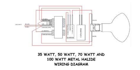 wiring a 35w 50w 70w 100w or 150 w metal halide ballast