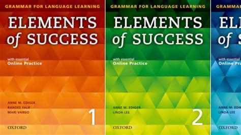 elements of grammar books elements of success grammar for language learning by