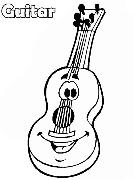 coloring pages guitar guitar coloring pages for az coloring pages