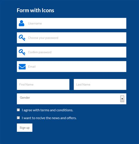 create beautiful looking registration form in html