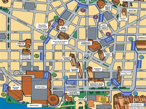 detroit traffic map detroit thanksgiving day parade 2015 parking map and guide