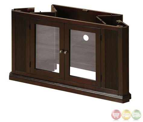 corner console rockwell espresso tv console with corner tv console cm5352
