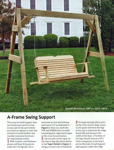 backyard swing plans porch swing plans woodarchivist