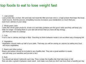 top foods to eat to lose weight fast