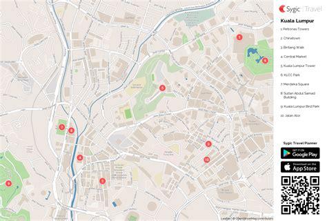 kuala lumpur map tourist attractions kuala lumpur printable tourist map sygic travel
