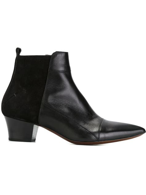 ankle length shoes for costume national ankle length boots in black lyst