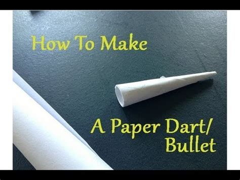 How To Make Paper Darts - how to make a powerful paper dart