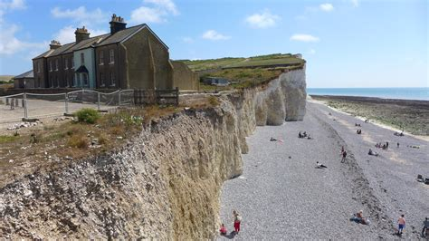 Tiny Cottages by Birling Gap In Sussex Rockpools Stunning Views And