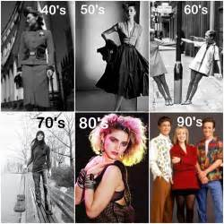 Fashion statement changes over the years