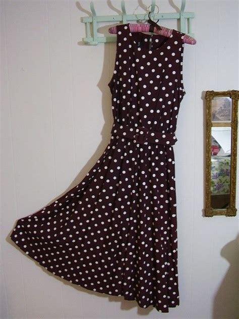 Lulia Shoes Polos brown and white polka dot dress pretty