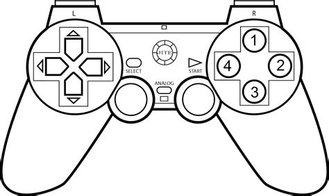 Coloring Page Xbox Controller by Controller Coloring Page Sketch Coloring Page