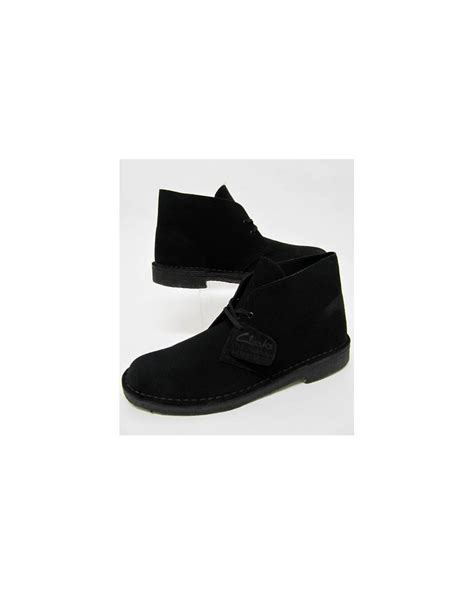clarks originals black suede desert clarks originals desert boot in suede black clarks